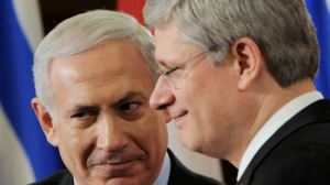 358664_Stephen Harper and Netanyahu