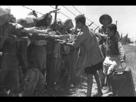 Civilian prisoners Ramle July 1948 on way to Labour Camps (1)