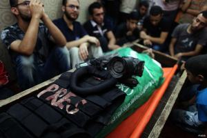 operation-protective-edge-palestinian-journalist-report-halid-ahmed-funeral-dead-killed