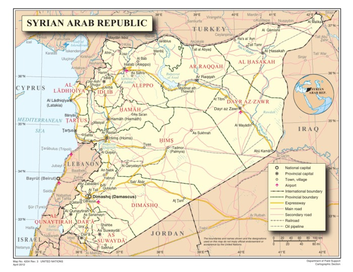 map-of-syrian-arab-republic
