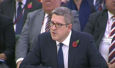 Director-General of security service MI5, Andrew Parker talking at the first parliamentary Intelligence and Security Committee (ISC) in London.