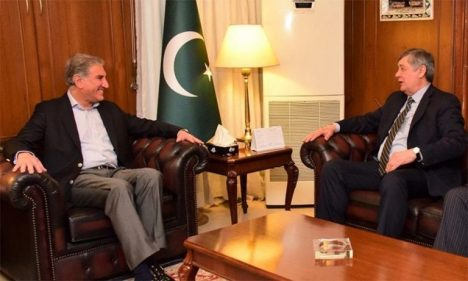 (Pakistan Foreign Minister Shah Mehmood Qureshi with Russian Special Representative on Afghanistan Zamir Kabulov, Islamabad, Jan 29, 2019)